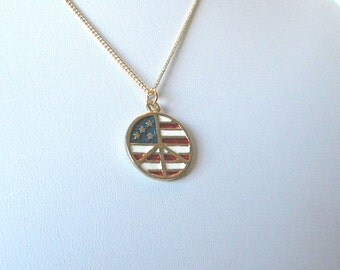 Patriotic jewelry for her, July 4th jewelry, red white and blue necklace, Military wife gift, flag necklace for her, USA jewelry gifts