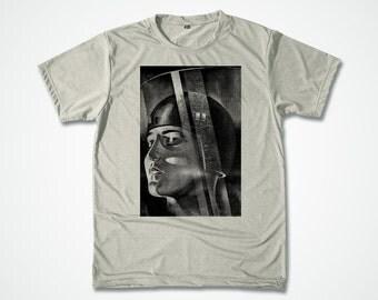 SciFi Shirt Movie Metropolis Poster Halftone Tshirt vintage scifi movie by Fritz Lang art poster graphic T-shirt - S M L XL