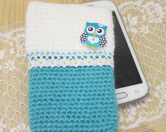 Phone case, case with owl, case, little case
