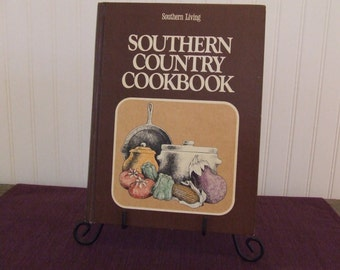 Southern Country Cookbook, Southern Living, Vintage Cookbook, 1975