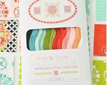 Cosmo Embriodery Floss by Bonnie and Camille coordinates with Handmade Fabric