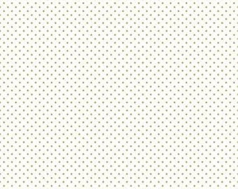 1 Yard- GOLD Swiss Dot by Riley Blake Designs- C660