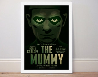 Movie poster 'The Mummy' 1932 Universal classic colour print