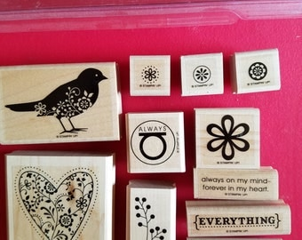 "Retired, Used, Stampin' Up Stamp Set called ""Always"""