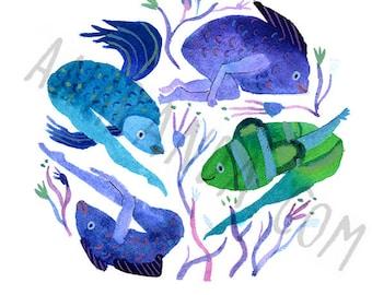 Fish Frolic - Print