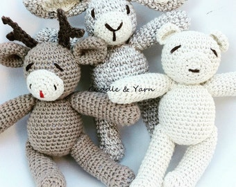 SPECIAL OFFER 2 Crochet Soft Toys of your choice in my shop, Christmas Gift, Crochet Animals, Stuffed woodland animals, Newborn Photo Prop.