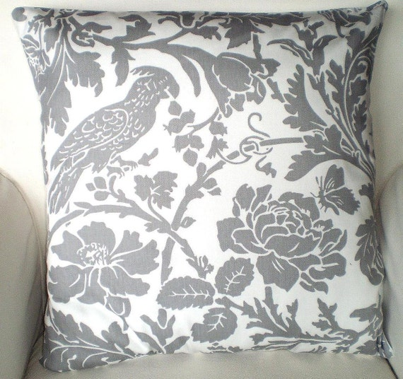 SALE Gray White Pillow Cover Decorative by PillowCushionCovers