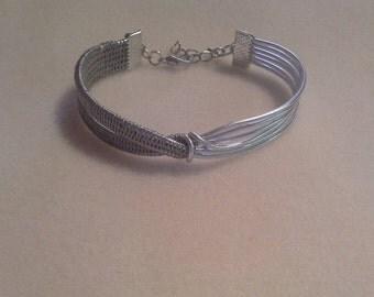 Wire woven bracelet