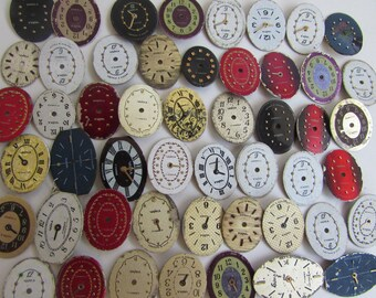 50 pcs little  small Watch Face Dials, From Old Watch Parts, & Dials For Steampunk Altered Art Gear, Repair, or ScrapBooking