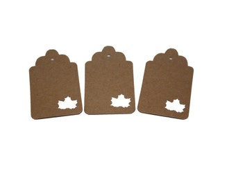 Maple Leaf Gift Tags