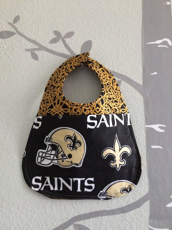 Bib for baby girl NFL New Orleans Saints Football Fan