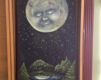 Moon over Mountain Lake