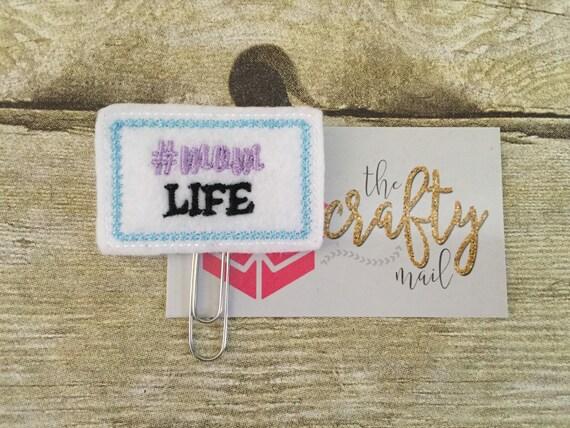 Hashtag Mom Life Paper Clip/Planner Clip/Bookmark