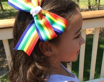 6in Pride Pinwheel Hairbow