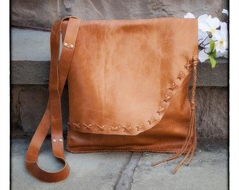 Lacey Convertable Cross-body Leather Bag