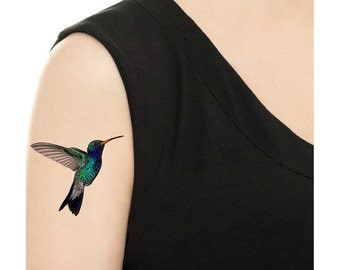 Temporary Tattoo - Hummingbird