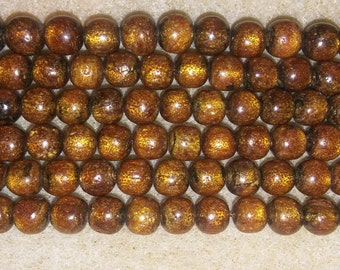 Bamboo beads round bamboo beads wooden beads round beads brown beads