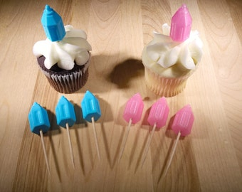 Baby Shower Baby Bottle - Cup Cake Toppers