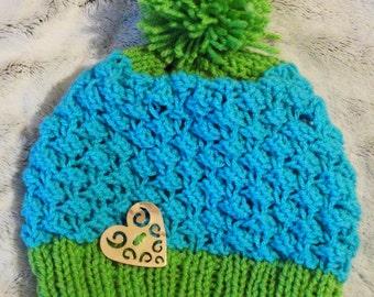 Bonnet Tutti Frutti blue and green
