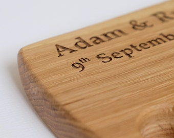 Personalised Engraved Solid Oak Chopping Serving Board