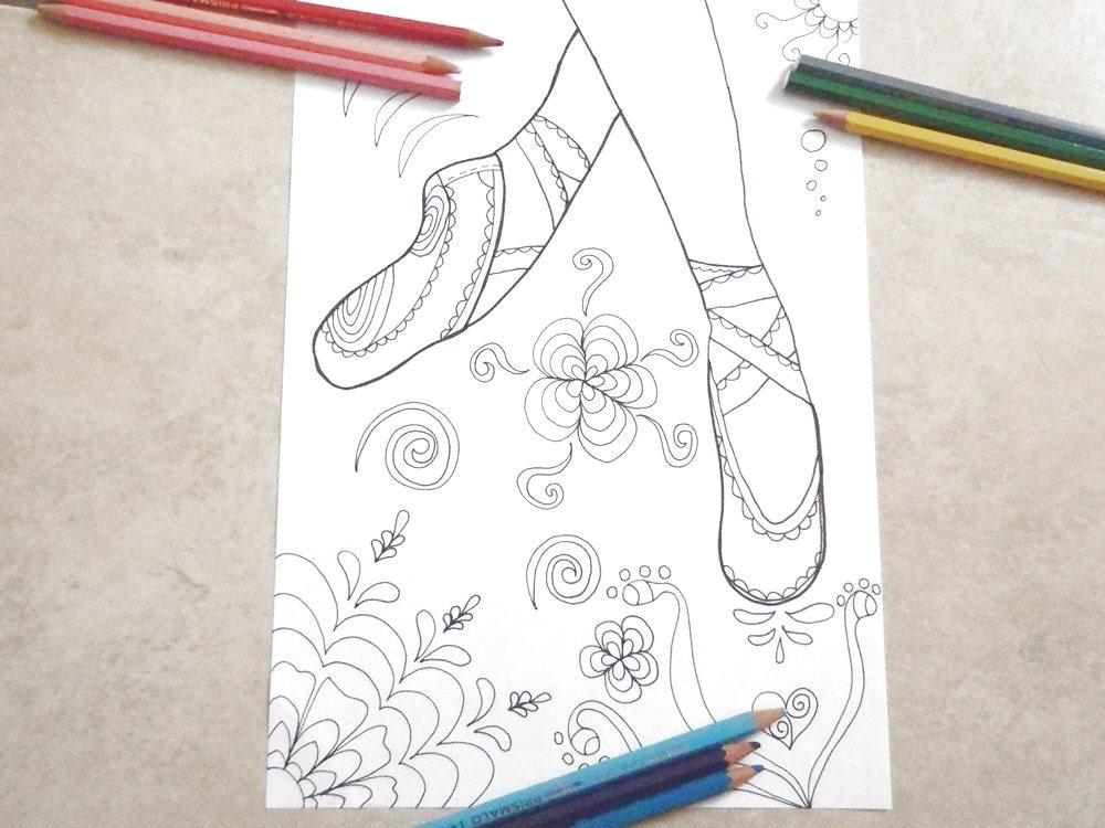 Scarpe da ballerina ballo danza classica colorare bambine for Ballerine disegnate