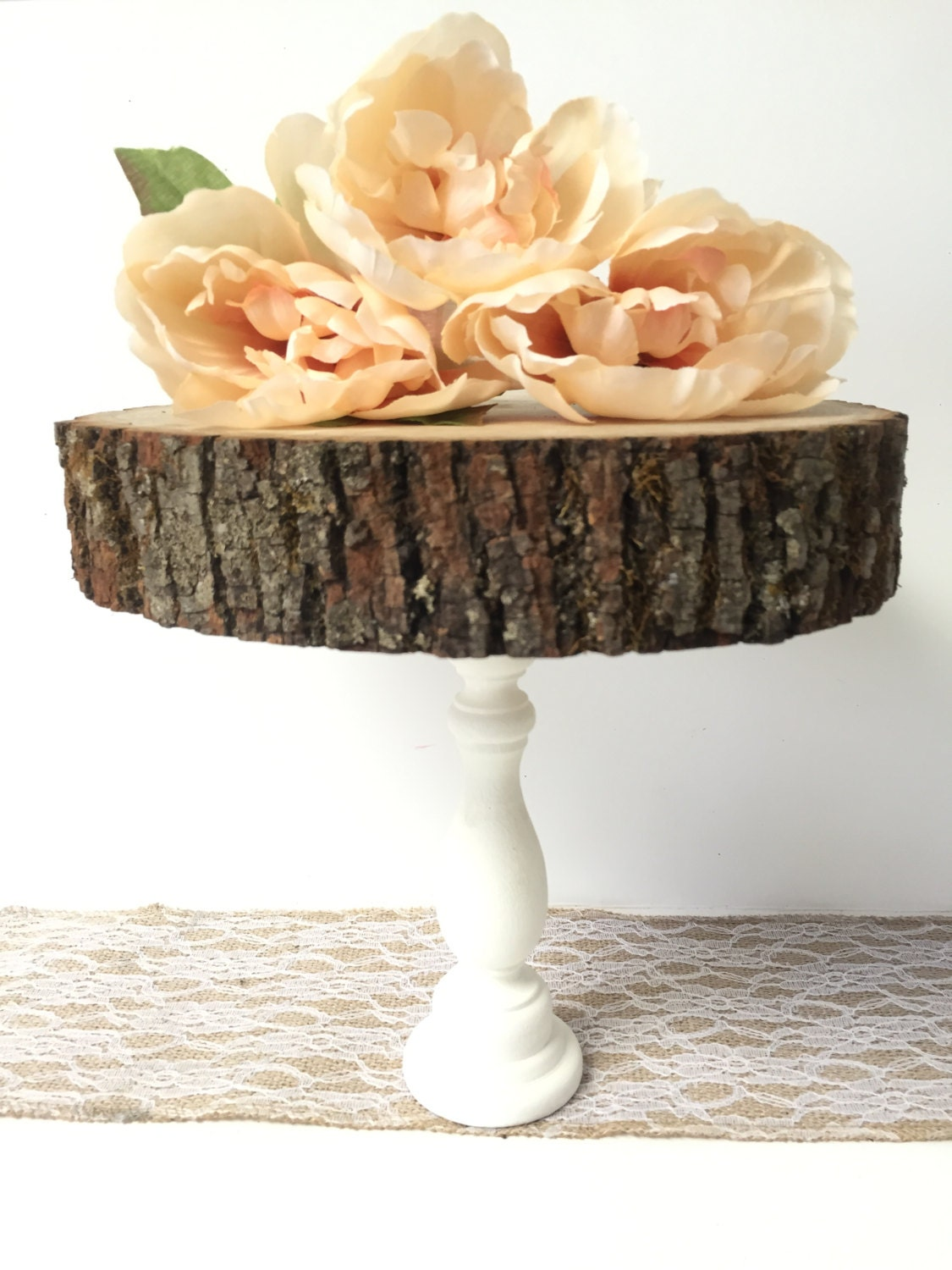 Wooden Cake Stand 7 10 Cupcake Stand Wooden Tree Slab