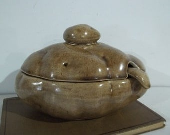 Vintage Atlantic Mold Ceramic Potato Shaped Gravy / Sour Cream Boat 100% Complete - FREE SHIPPING!!!