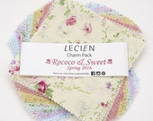 "SALE! Lecien Rococo Sweet Floral Collection Spring 2016 5"" Squares Charm Pack - 42 pcs"
