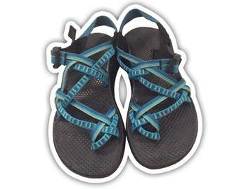 Chaco Shoe Inspired Vinyl Decal Sticker