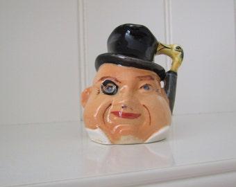 Burlington ware miniature 'Algy' toby  jug