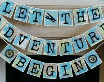 Adventure Banner, Adventure Theme Travel Theme Banner, Retirement Party,  Bridal Shower, Baby