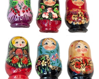 Fridge Refrigerator Magnet Set of Assorted nesting dolls Magnets - kod107p