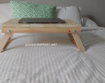 Bed tray,breakfast tray,laptop tray,breakfast tray with legs,bed tray with legs,ipad holder,serving tray with legs,folding tray,wood tray