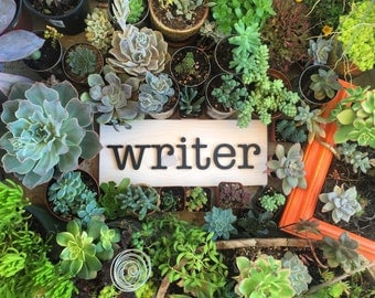 Writer Wall Decor Wood Sign Laser Cut