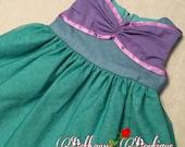 Baby mermaid dress, baby princess dress