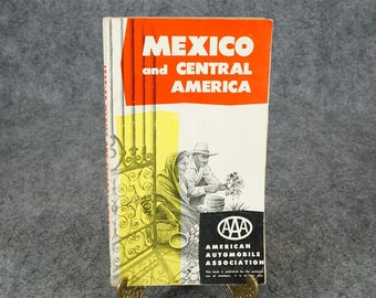 Mexico and Central America By American Automobile Association 1959-1960 Edition