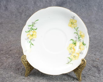 Made In Occupied Japan Saucer Adorned With Yellow Floral Design C. 1940'S-50'S