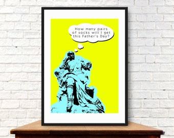 Fathers Day - Pop Art Print (A4, 21cm x 29.7cm)
