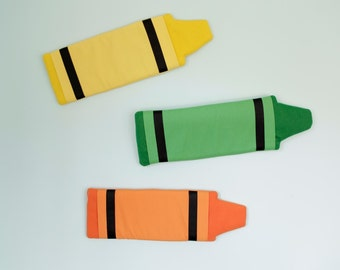 Colorful Crayon pillow wall hangings