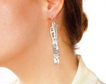 Sea Animal Earrings Ocean Drop Earrings Ocean Statement Earrings Fish Earrings Filigree Silver sea life earrings gift for women gift for her