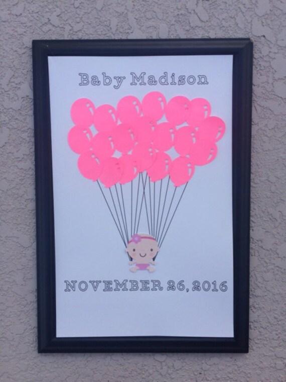 Baby Shower Guest Book, Alternative Shower Guest Book, Guest Book Alternative, Baby Balloons, Twin Baby, Girl Baby, Boy Baby