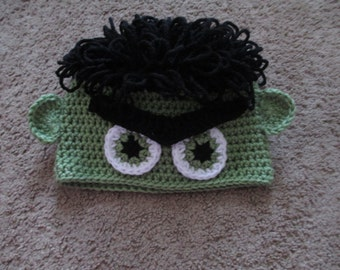Crochet Incredible Hulk Hat--All Sizes Available
