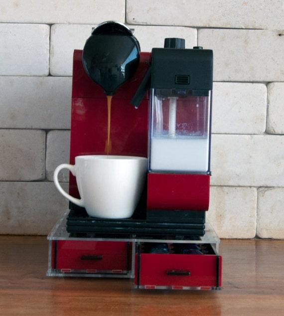 Long transparent nespresso tiroir de rangement pour dosette de - Rangement dosette nespresso ...