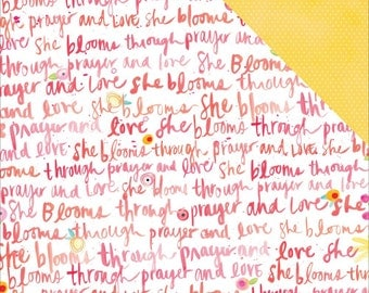 Illustrated Faith She Blooms Script paper