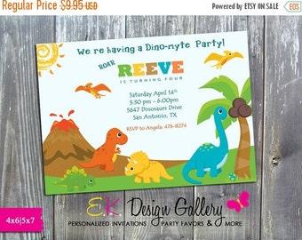 ON SALE Dinasaurs Birthday Invitation Printable DIY