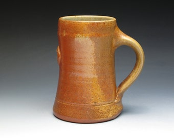 Holmes County Pottery Wood Fired Stoneware Mug, Cary and Elaine Hulin, Ohio Potters, Studio Pottery mugs