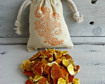 Organic Orange Herbal Sachets Dried Orange Peels Scented Sachets Sachet Favors Wedding Favors Scented Drawer Sachets Drawer Sachets
