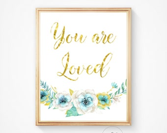 You are loved print, You are loved, You are so loved, Nursery wall art, Nursery decor, You are loved printable, Nursery decor, Nursery art