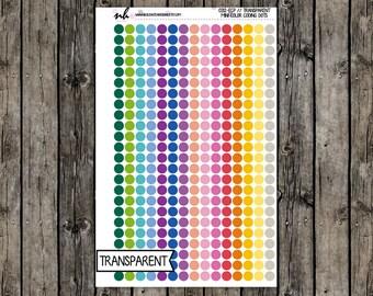 0212-ECP // Transparent Mini Color Coding Dot Stickers // EC Palette // Transparent Matte Permanent Planner Stickers