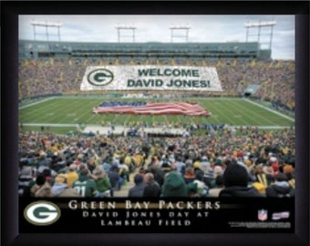 Personalized framed sports posters of stadiums